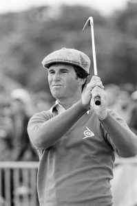 GULLANE, SCOTLAND - JULY 19: Hubert Green of the USA during the third round of the109th Open Championship played at Muirfiled Golf Club on July 19, 1980 in Gullane, England. (Photo by Peter Dazeley/Getty Images)