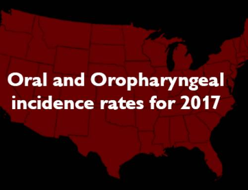 Oral and Oropharyngeal incidence rates for 2017